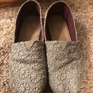 Sparkly, Lacey Gold Toms